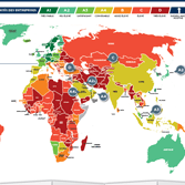 Country risk assessment map