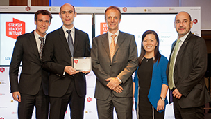 From left to right: JC, Fabien Conderanne, presenter, Wendy Chong, Xavier Farcot